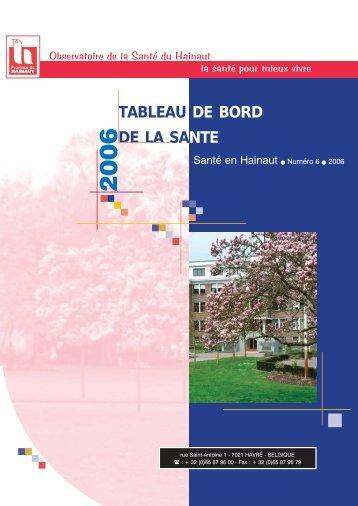Etat de santé - La Province de Hainaut