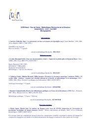 Acquisitions – avril – mai 2007 - IUFM