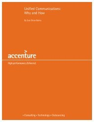 Unified Communications: Why and How - Accenture