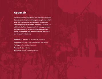 Appendix - Office of Economic and Workforce Development