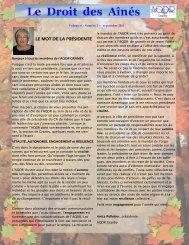 Septembre 2011 - AQDR Granby