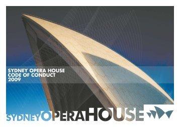 SYDNEY OPERA HOUSE CODE OF CONDUCT 2009