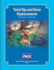 Total hip and knee replacements - Pennsylvania Health Care Cost ...