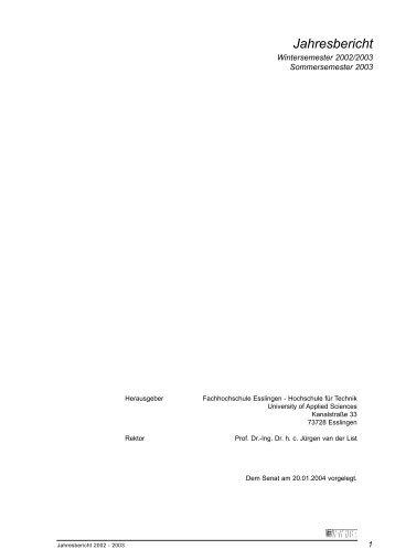 Studium und Lehre - Hochschule Esslingen