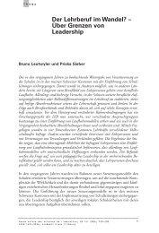 Thema Leutwyler - Pädagogische Hochschule Thurgau