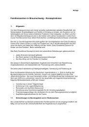 Familienzentren in Braunschweig - Konzeptrahmen - Early Excellence