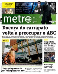 Doença do carrapato volta a preocupar o ABC - Metro