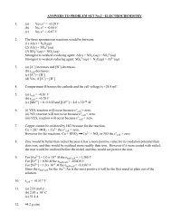 ANSWERS TO PROBLEM SET No.2 - ELECTROCHEMISTRY 1. (a ...