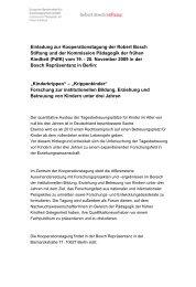 Einladung und Programm - Robert Bosch Stiftung