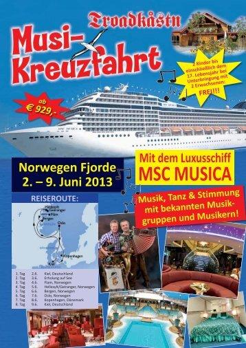 MSC MUSICA - Troadkastn