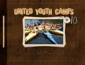 caMP - United Youth Camps - United Church of God