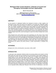 Biological Odor Control Systems: A Review of Current and Emerging ...