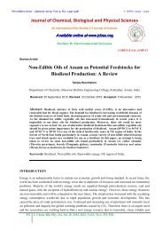 Non-Edible Oils of Assam as Potential Feedstocks for Biodiesel ...