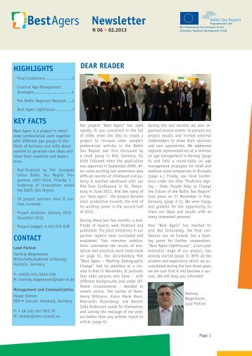 Newsletter - BestAgers Project > Best Agers
