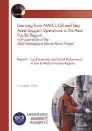 Learning from AMEC's Oil and Gas Asset Support ... - CommDev