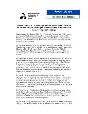 Press release - ADEA