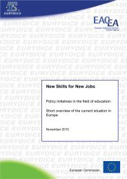 New Skills for New Jobs - EACEA - Europa