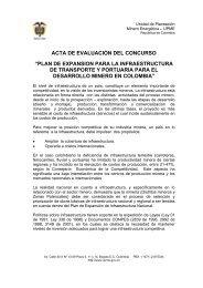 acta de evaluación del concurso - Unidad de Planeación Minero ...
