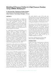Modelling Of Pressure Profiles In A High Pressure ... - COMSOL.com