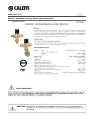 Adjustable Thermostatic Mixing Valve - Caleffi