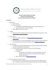 1 American College of Medical Toxicology 2014 Annual Scientific ...