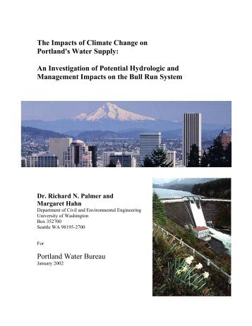 The Impacts of Climate Change on Portland's Water Supply: An ...