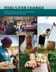 Applying United Nations standards to secure women's housing, land ...