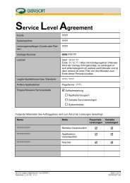 Service Level Agreement (SLA) - GEFASOFT AG