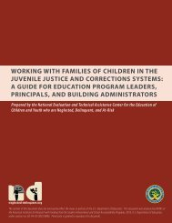 working with families of children in the juvenile justice and ...