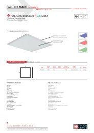 SWITCH MADE DATA SHEETS PALAOS 600x600 RGB DMX