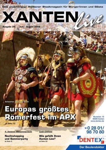 Europas größtes Römerfest im APX - Xanten Live