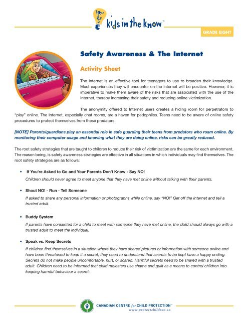 Safety Awareness & The Internet - Kids in the Know