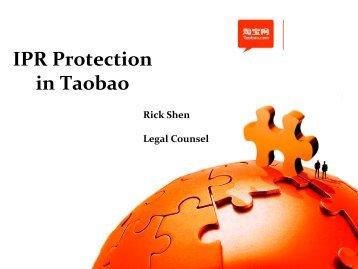 Ricky Shen, Senior Legal Council, Taobao.com ... - Marques