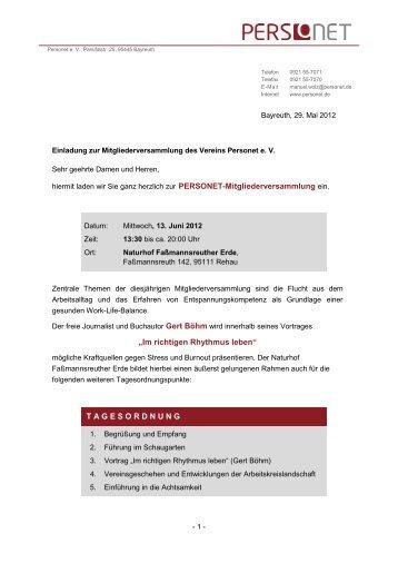 Einladung (pdf) - Personet