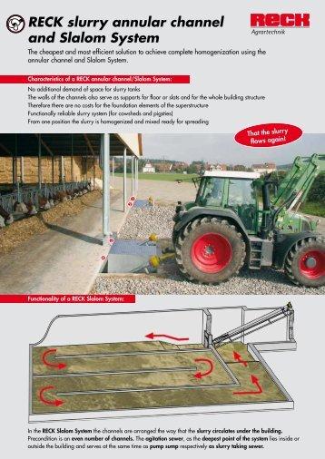 RECK slurry annular channel and Slalom System - Landbruksteknikk