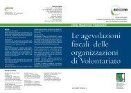 Le agevolazioni fiscali delle organizzazioni di Volontariato - Cesvov