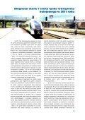 Funkcjonowanie rynku transportu kolejowego w 2011 roku - Urząd ... - Page 5