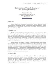 Optimization of Aircraft Structures and Rotating Machinery - Domain-b