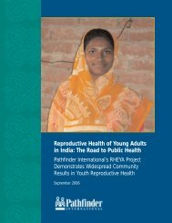 Reproductive Health of Young Adults in India - Pathfinder International
