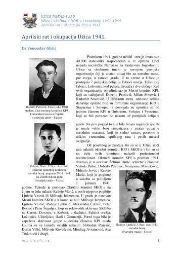 Априлски рат и окупација Ужица - Grad Užice