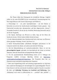 Phraseologie online - Universität Tübingen