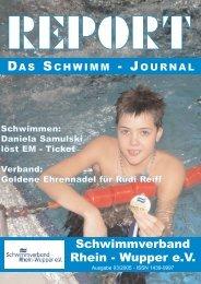 Aus den Vereinen - Schwimmverband Rhein-Wupper eV: Home
