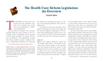 The Health Care Reform Legislation: An Overview - ResearchGate