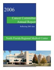Cancer Committee Annual Report - North Florida Regional Medical ...