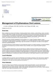 Management of Erythematous Oral Lesions - Giovanni Maria Gaeta