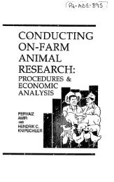 guidelines for conducting on-farm animal research - part - usaid