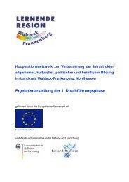 Ergebnisdarstellung der 1. Durchführungsphase - EUROlocal