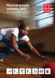 Physical activity statistics 2012 - British Heart Foundation