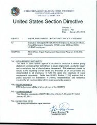 United States Section Directive - International Boundary and Water ...