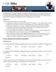 Accessibility Checklist - University of Washington